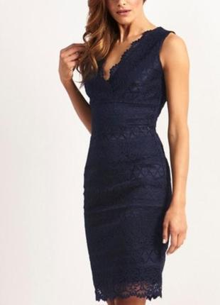 Вечернее кружевное платье lipsy london1 фото