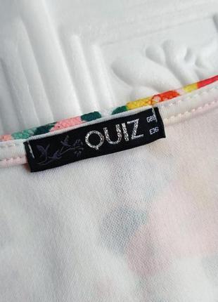 Фактурная короткая майка quiz, в цветочный принт6 фото