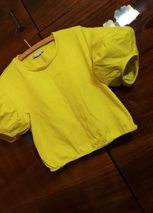 Кроп топ топик летний яркий футболка летняя укороченная