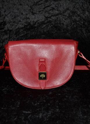 Кожаная сумочка mulberry, оригинал с номером