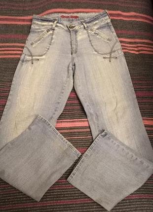 Шикарные светло - голубые джинсы