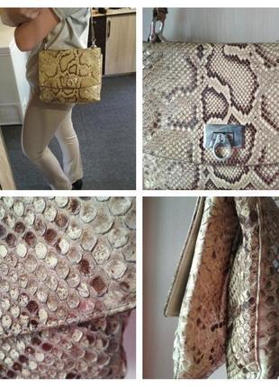 Шикарная сумочка из натуральной кожи питона.