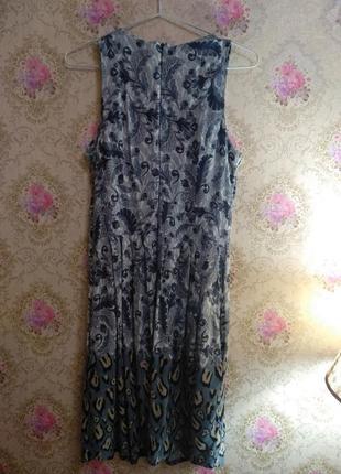 Красивое платье необычной расцветки4 фото
