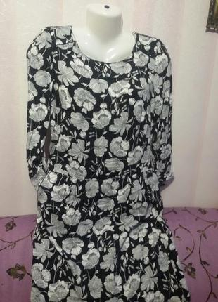 Вискозное платье с карманами (пог-48 см)