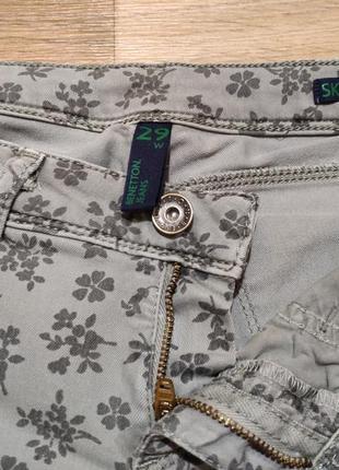 Летние скинни джинсы в цветочек, новые