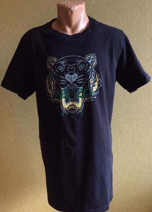 Мужская футболка kenzo 100% оригинал португалия  размер xxl( l,xl)