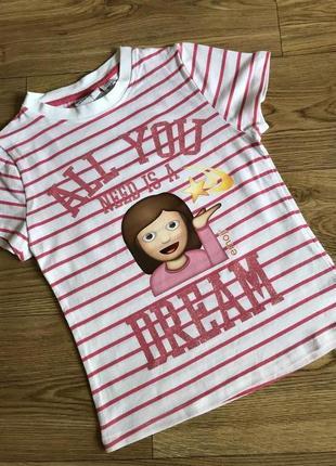 Качественная хлопковая футболка для девочки