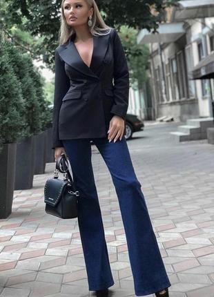 Стильні класичні джинси кльош