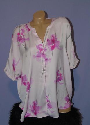 Блузочка в цветочный принт орхидея joules