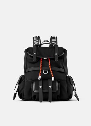 Фирменный мини- рюкзак из текстиля