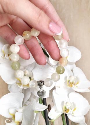 Браслет из натурального камня, браслет із натурального каміння, браслетик