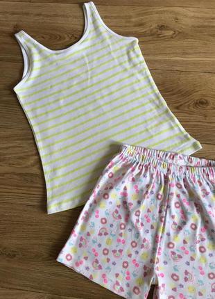 Стильная базовая полосатая маечка/футболка неоновые полосы
