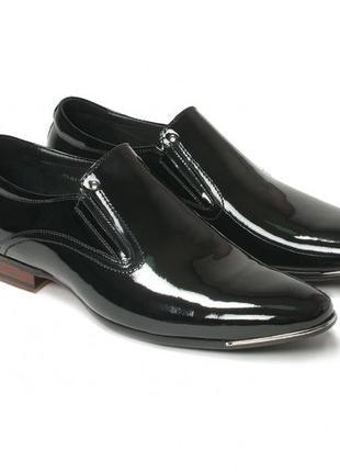 Кожаные лаковые туфли clemento
