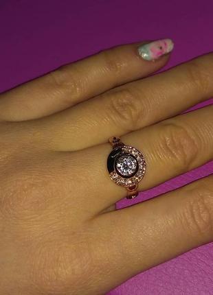 Кольцо 17размер, медицинское золото