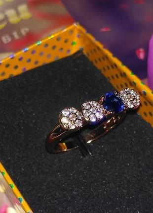 Кольцо 17 размер, медицинское золото