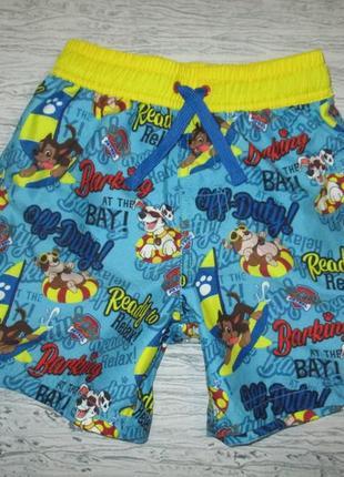 Яркие пляжные шортики фирмы джорж на 3-4 года