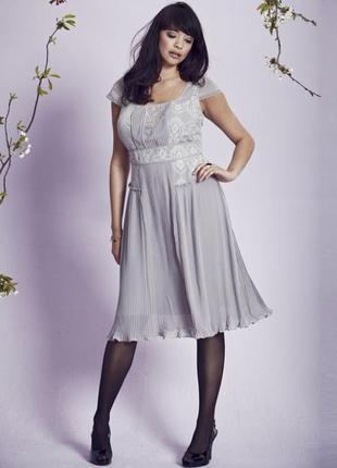 Платье frock and frill ,плиссированная юбка,кружево.