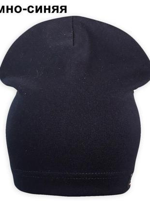 Трикотажная однослойная шапка спорт ог. 53-55см