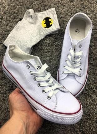 Кеды - allstar белые converse + подарок