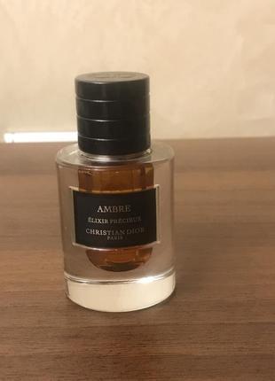 Christian dior ambre elixir precieux - парфюмированное масло - 3 ml