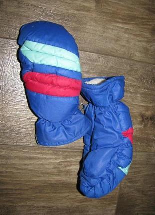 Перчатки варежки теплые s размер рукавицы краги rodeo германия