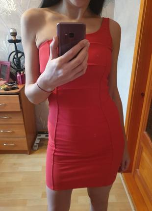 Плотное бандажное платье bershka