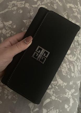Чёрный замшевый кошелёк