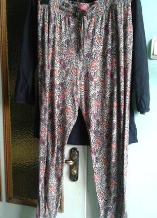 Джоггеры, штанишки алладины трикотажные легкие бохо стиль
