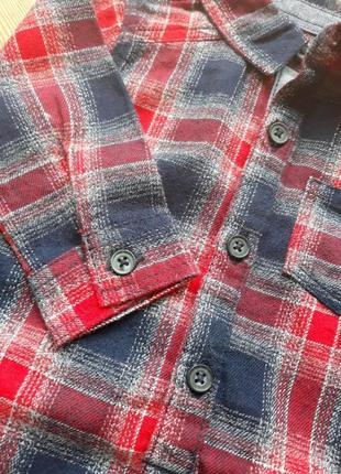 Теплый бодик рубашка с носочками6 фото