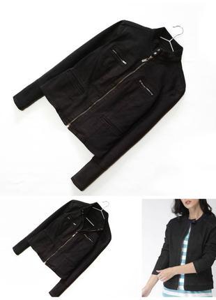 Стильна темно сіра джинсова куртка косуха/джинсовка/жакет