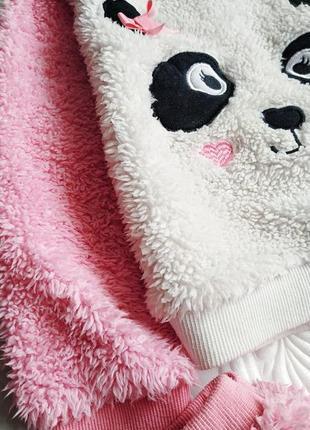 Зимняя махровая плюшевая пижама panda2 фото