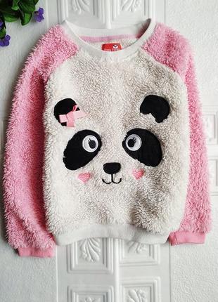 Зимняя махровая плюшевая пижама panda4 фото