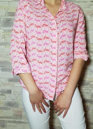 """Рубашка"""" фламинго"""" от stadivarius"""
