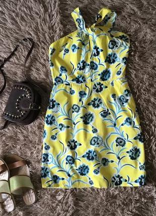 Міні платтячко в квітковий принт