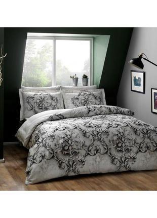 Постельное белье tac сатин digital - carissa постель серый еврокомплект