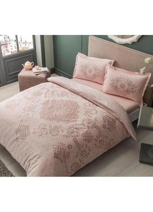 Постельное белье tac сатин - carissa pembe постель розовый еврокомплект