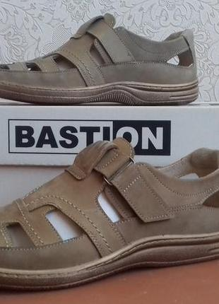 Мужские кожаные летние туфли сандали bastion 030 ол