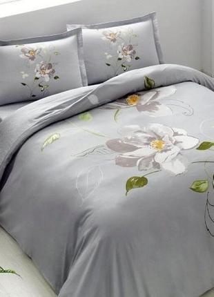 Двуспальный евро комплект tac palau turquoise сатин постель