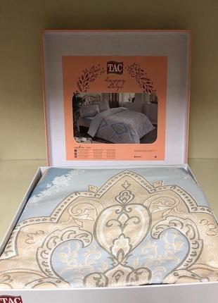Двуспальный евро комплект tac vales blue сатин