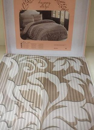 Двуспальный евро комплект tac luzon brown сатин