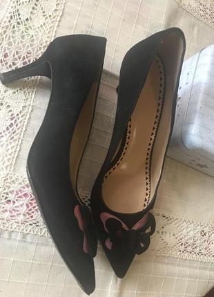 Moschino замшевые туфельки ретро стиль 38р