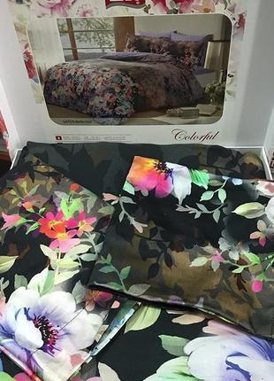 Постельное белье тас сатин digital - reflection лиловый семейное