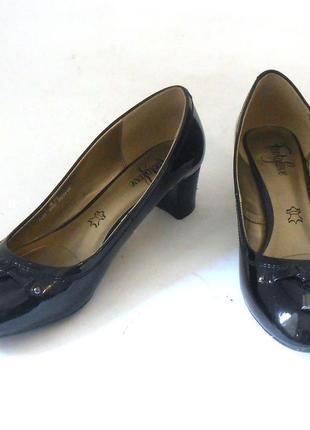 Качество! кожа! стильные лаковые туфли footglove, р.37,5 код t3709