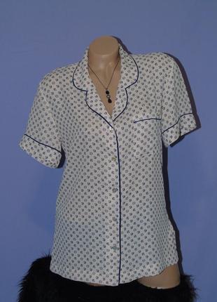 Трендовая рубашка в пижамном стиле от marks & spencer3 фото