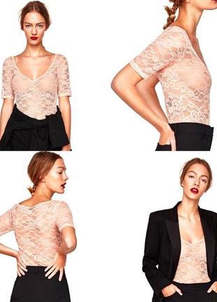 Боди,блуза,комбидресс zara,цвет пудра.