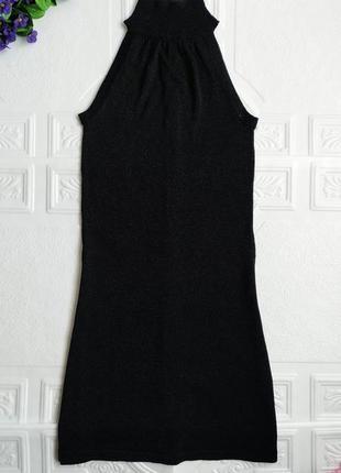 Трикотажное блестящее платье h&m, с высокой горловиной