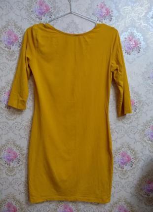 Платье по фигуре горчичного цвета4 фото