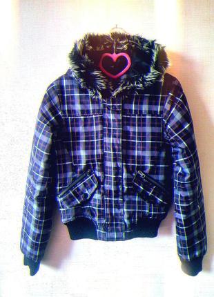 Короткая куртка, весенняя, осенняя, с капюшоном, курточка, весна осінь