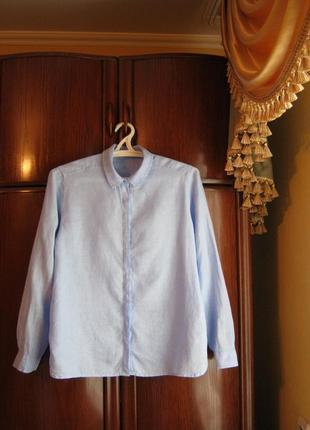 Рубашка marks&spencer, 100% лен, размер 16/44