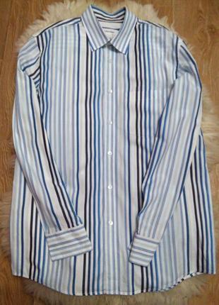 Рубашка calvin klein в полоску, оригинал